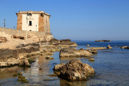 phoenicians: Trapani Sicily view of the tower of Ligny