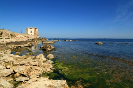 Trapani Sicily view of the tower of Ligny