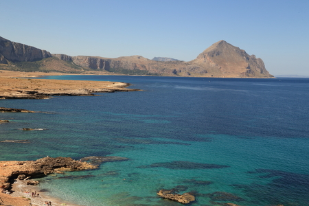 compensated: Macari Trapani Sicily - The beach and gorgeous with its rocks and its clear water