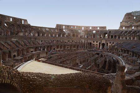 spqr: El Coliseo de Roma Foto de archivo