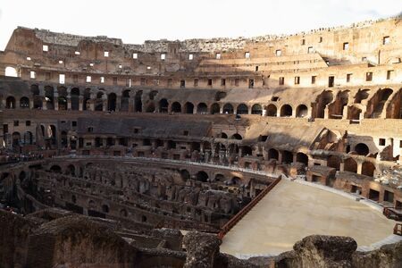 spqr: The Colosseum Rome Stock Photo