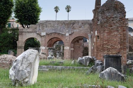 spqr: Rome - Roman Forum Stock Photo