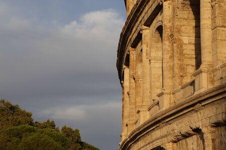 spqr: rome - colosseum Stock Photo