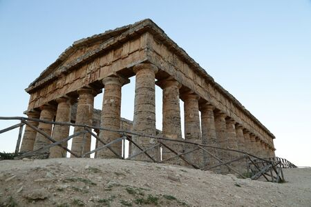 colonnaded: Segesta (Sicily) Stock Photo