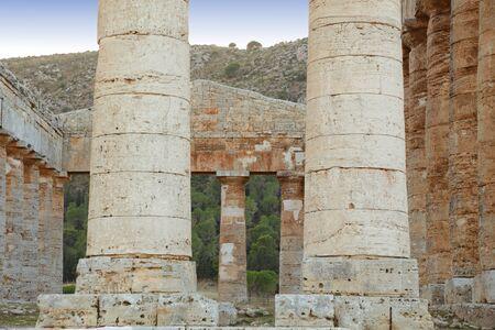 peripteral: Segesta (Sicily) Stock Photo