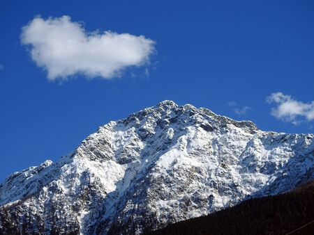 Winter mountains panorama - Italy 写真素材