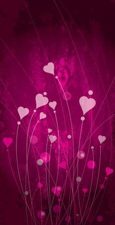 flowerses: flowerses in form heart Illustration