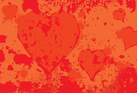 scraping: Heart spot Valentines day love card abstract grunge