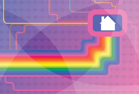drainage: House electrical network communication background