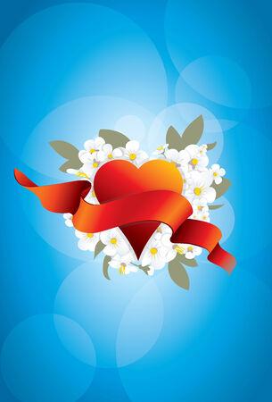flowerses: Love flowerses Valentines Day wedding spring card