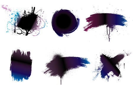Paintbrush background grunge art paint Vector