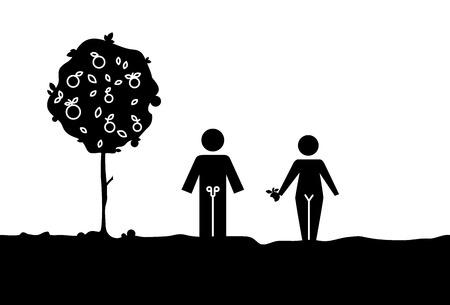 Garden Adam and Eva family