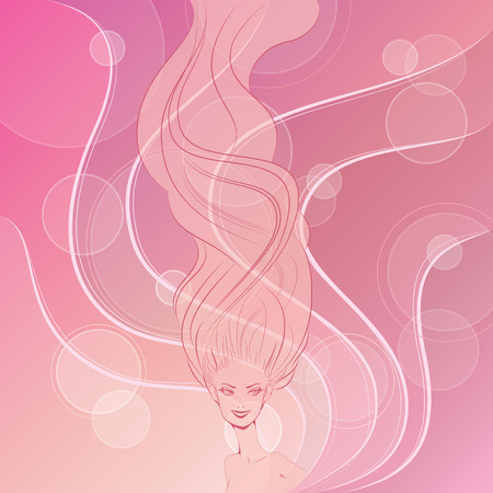 Wind in hair style fashion beautiful background Stock Vector - 28245990