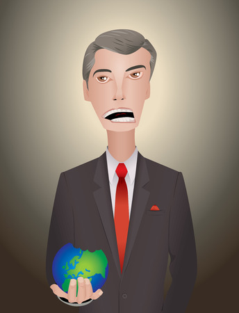 politician world crisis planet businessman person Vector