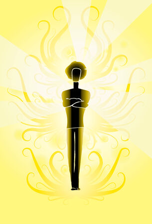 parapsychology: Young man aura parapsychology forms spiritual Illustration