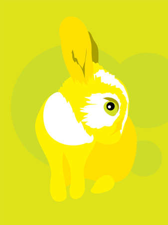 defenseless: Funny curious chicken-hearted rabbit