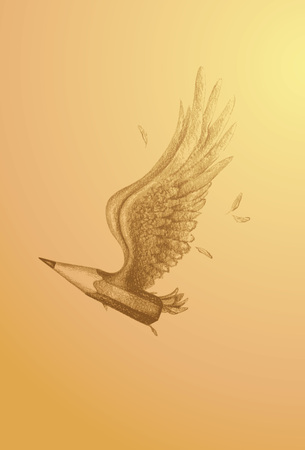 lavoro manuale: volare le ali arte matita lavoro manuale