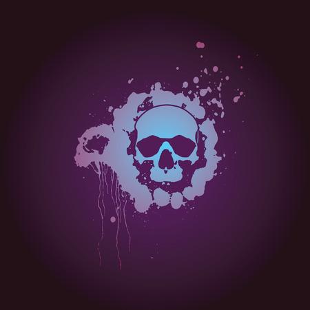 skull halloween spot paint horror Vector