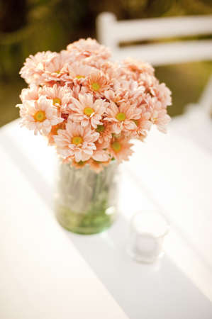 beautiful blossom flower in vase Stock Photo