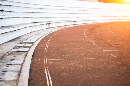Running tracks at the stadium