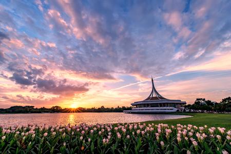 Suan Luang rama 9 public park in bangkok,Thailand
