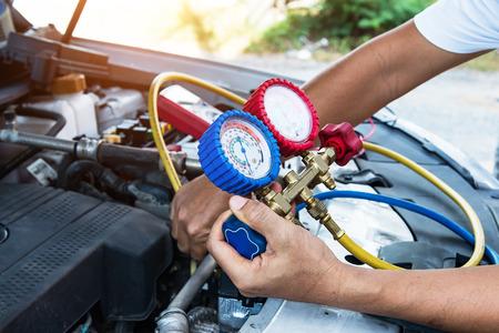 The pressure gauge on the air compressor,liquid air pressure,compressor,manometer