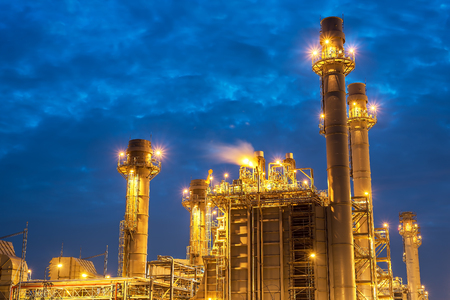 Oil refinery industry,Industrial view at oil refinery plant form industry zone.