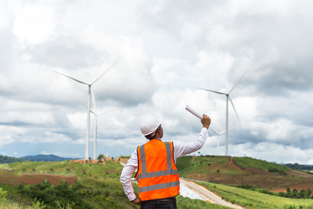 Engineer electricity with wind turbines