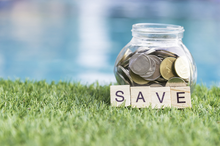 saving money to invest in a home or property in the future Stock Photo