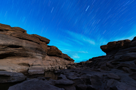 stars night sky rotation abstract Banco de Imagens