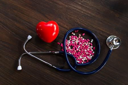 Close-up Medicine, headphones, heart
