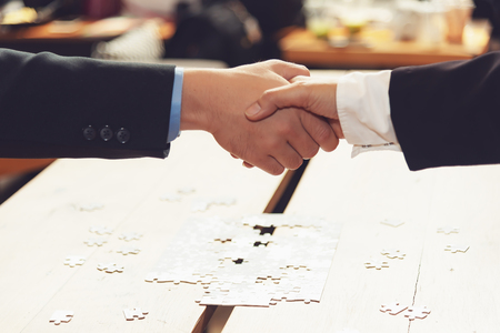 Business partner people joining hand after contract finished meeting. Teamwork Concept.