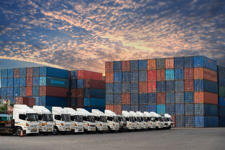 Logistics and transportation and logistic import export and transport industry background Фото со стока