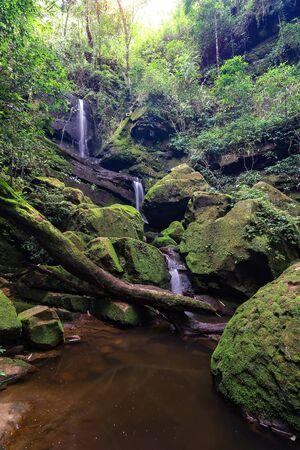 Waterfall at Phu Soi Dao National Park, Uttaradit, Thailand Фото со стока