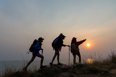 Hipster young woman hiking holiday, wild adventure.Freedom concept. Travel Concept.