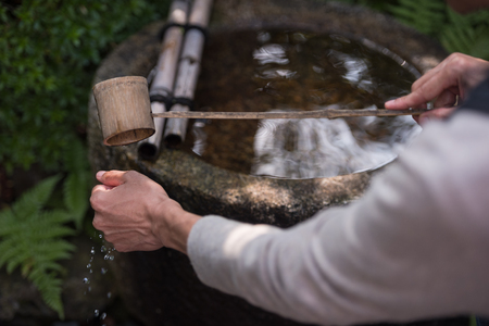 basins: Water-filled basins, called chozubachi, are used by worshipers for washing their hands, mouth and finally the handle of the water ladle to purify themselves before approaching the main Shinto shrine.