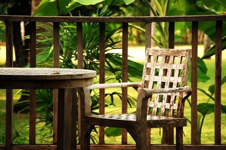 Take a rest with chair in the garden