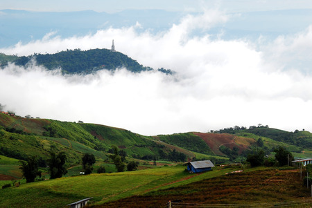 Fog on the Mountain in Thailand