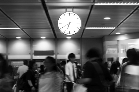 Movement people Rush hour at sky train station, Thailand Reklamní fotografie