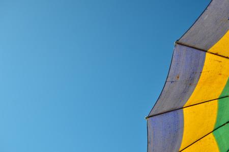umbella: beach umbella and blue sky