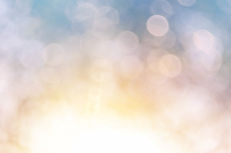Bokeh sun light leaf nature abstract background.Retro color style Standard-Bild