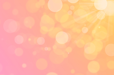 Colorful bokeh sun light abstract texture background.