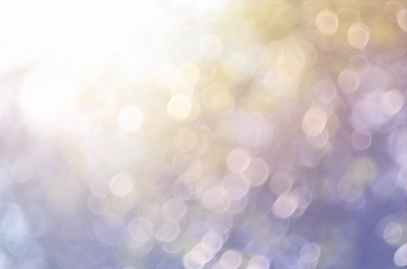 Bokeh sun light leaf nature abstract background.Retro color style Stock Photo