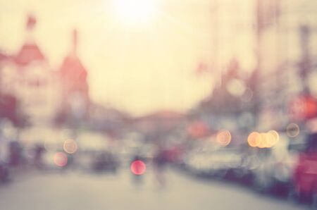 city traffic: Blur traffic road abstract background.Retro color style.