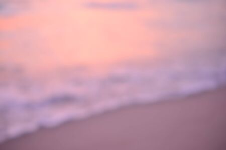 colour background: Blur tropical sunset beach abstract background.Travel concept. Stock Photo