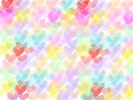 colorful heart: Colorful heart shape pattern abstract background.