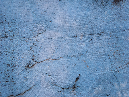 Grunge old blue stone brick wall texture background. Copy space of horizontal architecture backdrop wallpaper. Stock Photo