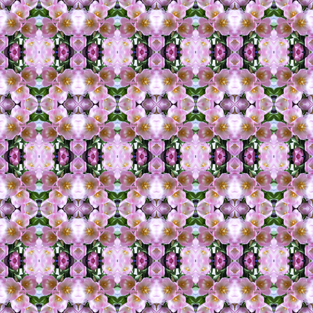 seamlessly: Seamless texture of tulips. For eg fabric, wallpaper, wall decorations. Stock Photo