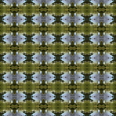 seamlessly: Seamless pattern of a park. For eg fabric, wallpaper, wall decorations. Stock Photo