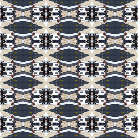 dragline: Seamless construction work pattern. For eg fabric, wallpaper, wall decorations.